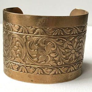 Other - Vintage Brass Wide Cuff Bracelet